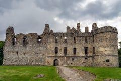 在Dufftown的Balvenie城堡在苏格兰 免版税图库摄影