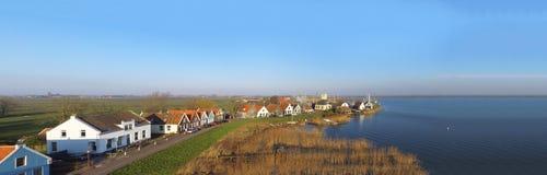 在Dugrerdam的鸟瞰图 免版税库存照片
