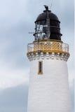 在Dunnet头的灯塔塔在北部苏格兰 库存照片