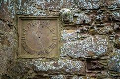 在Dunnottar城堡的细节,在Stonehaven附近,苏格兰 免版税库存图片