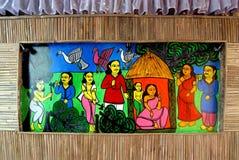 在Durga节日期间的印第安艺术 库存照片