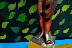 在Durga节日期间的印第安艺术 免版税库存照片