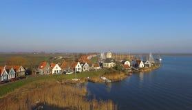 在Durgerdam的鸟瞰图 免版税库存照片