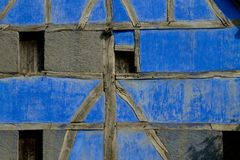 在ecomusee的半木料半灰泥的房子细节在阿尔萨斯 库存照片