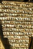 在ecomusee的墙壁细节在阿尔萨斯 库存照片