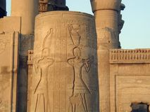 在Edfu埃及的寺庙 免版税库存图片