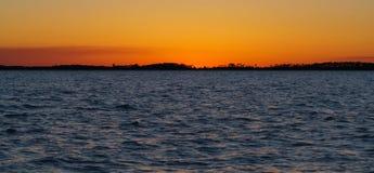 在Edisto海滩的日落 免版税库存图片