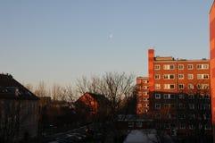 在EFBRUAERY的丹麦WEATHER_COLD,但是SIHINE天 库存图片