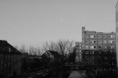 在EFBRUAERY的丹麦WEATHER_COLD,但是SIHINE天 免版税图库摄影