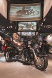 在EICMA的哈利戴维森摩托车2014年在米兰,意大利 免版税库存照片