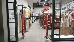 在Eid AlFitr前的Eid折扣在哈托诺购物中心日惹 库存图片
