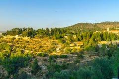 在Ein环境美化Karem老村庄  免版税图库摄影