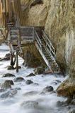 在El斗牛士海滩的Whispy台阶 库存照片