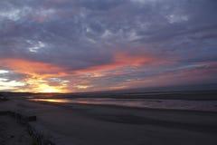 在El Golfo De圣克拉拉,地面蛇,墨西哥的日出 库存图片