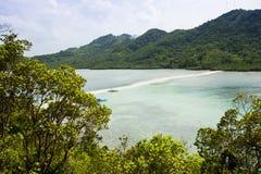 在El Nido,菲律宾的海景 免版税库存照片