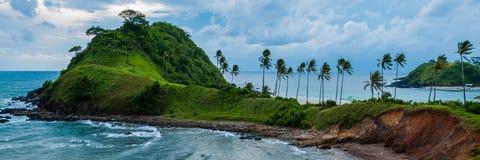 在El Nido巴拉望岛菲律宾的海滩 库存照片