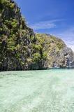 在El Nido -巴拉望岛,菲律宾附近的美丽的盐水湖 免版税库存图片