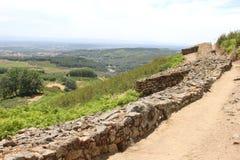 在El Raso、卡斯提尔和利昂,西班牙的古老罗马废墟 库存图片