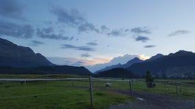 在Engadin的美丽的景色 图库摄影