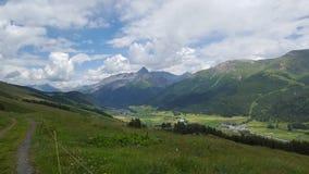 在Engadin的美丽的景色 库存照片