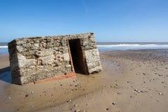 在Engl的东海岸的历史的WW2军事防御建设 图库摄影