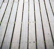 在englan伦敦古董地板和backgrou的棕色抽象木头 免版税库存照片