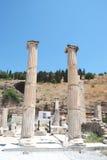 在Ephesus,伊兹密尔,土耳其,中东的柱子 库存图片