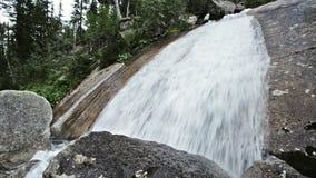 在Ergaki自然公园,俄罗斯的森林瀑布 股票视频