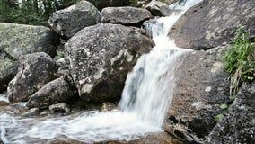 在Ergaki自然公园,俄罗斯的瀑布 股票视频