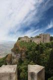 在erice的Pepoli城堡 免版税库存图片