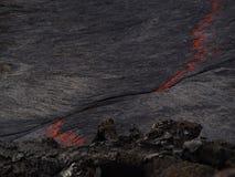 在Erta强麦酒火山,埃塞俄比亚里面的熔岩 库存照片