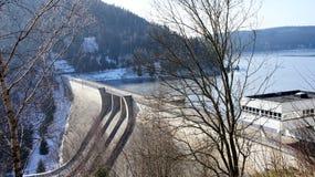 在Erzgebirge的水坝 免版税库存图片
