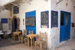 在Essaouira摩洛哥的Taverna 免版税库存图片