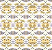 在ethno样式的无缝的抽象墙纸,黄色 免版税库存照片