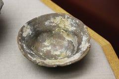 在Etowah土墩找到的礼仪碗 库存照片