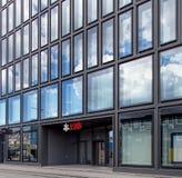在Europaallee街道上的瑞银Ofice在苏黎世 库存图片