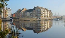 在Eynesbury的小游艇船坞发展 图库摄影