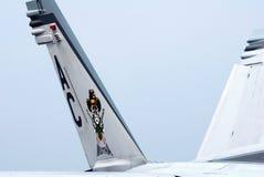 在F/A-18战斗机的艺术品 免版税库存照片