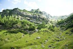 在Fagaras山的山Lanscape在罗马尼亚 免版税图库摄影