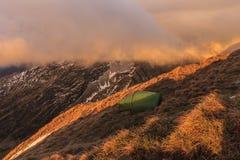 在Fagaras山的日出 库存照片