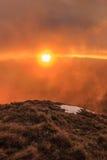 在Fagaras山的日出 图库摄影