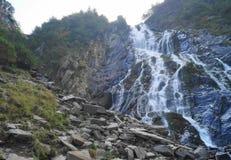 在Fagaras山的Balea瀑布,特兰西瓦尼亚,罗马尼亚 库存图片