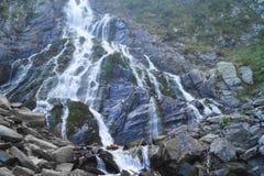 在Fagaras山的Balea瀑布,特兰西瓦尼亚,罗马尼亚 免版税库存图片