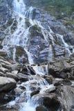 在Fagaras山的Balea瀑布,特兰西瓦尼亚,罗马尼亚 免版税图库摄影