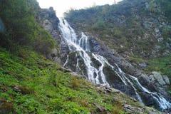 在Fagaras山的Balea瀑布,特兰西瓦尼亚,罗马尼亚 库存照片