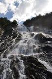 在Fagaras山的Balea瀑布,罗马尼亚 库存图片
