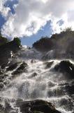 在Fagaras山的Balea瀑布,罗马尼亚 免版税库存照片