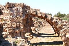 在Famagusta,塞浦路斯的古老废墟 库存图片