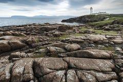 在Fanad头, Donegal,爱尔兰北海岸的灯塔  免版税库存照片