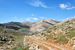在fann山的山风景,塔吉克斯坦 免版税库存照片